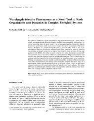 Wavelength-selective fluorescence as a novel tool to study ...