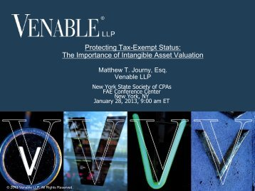 Protecting Tax-Exempt Status: The Importance of ... - Venable LLP