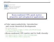 Kaon-condensed CFL quark matter: properties ... - Fakultät für Physik