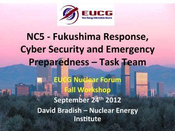 Fukushima Response, Cyber Security and Emergency ... - EUCG