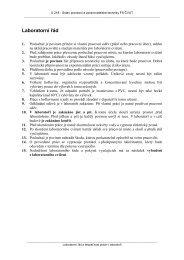 Laboratorní řád a bezpečnost práce v chemické laboratoři.