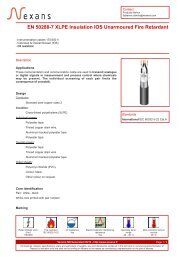EN 50288-7 XLPE Insulation IOS Unarmoured Fire ... - Nexans