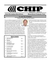 CHIP décembre 2011 - Club informatique Mont-Bruno