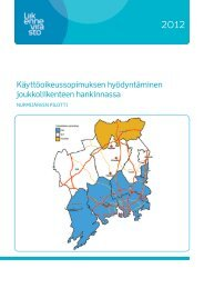 Käyttöoikeussopimuksen hyödyntäminen ... - Liikennevirasto