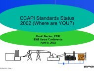 CCAPI Standards Status 2002 (Where are YOU?) - EMS Users ...