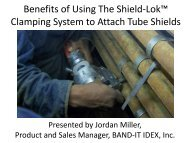 tube shield clamping advantages - Band-It