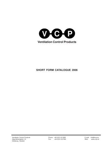 VCP Catalogue - Marktechnical.nl