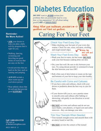 Caring For Your Feet - Better Living Now Health Education Guide