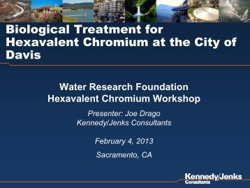 11 Biological Treatment for Cr(VI) at the City of ... - WaterRF Collab