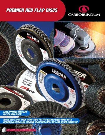 Premier Red Plastic Backed Flap Discs - EMI Supply, Inc