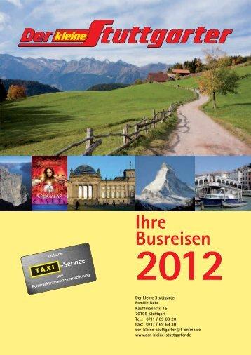 Ihre Busreisen 2012 - Der kleine Stuttgarter