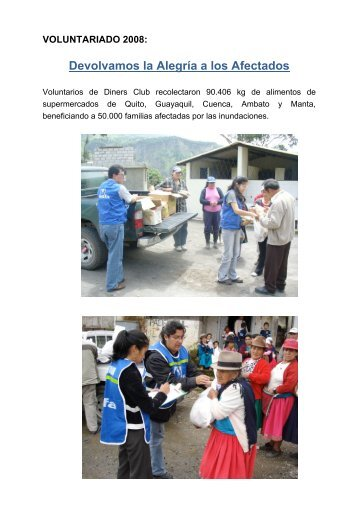 Voluntariado 2008.pdf - Diners Club del Ecuador