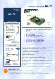 Embedded Serial Ethernet Converter EZL-70 Sollae Systems Co., Ltd.