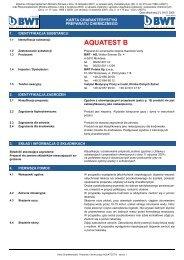 MSDS-AQUATEST B.pub (tylko-do-odczytu) - BWT Polska