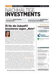 HB Business Briefing Nachhaltige Investments 11_2013