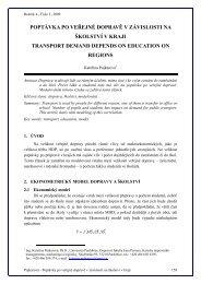 Poptávka po veřejné dopravě v závislosti na školství v kraji