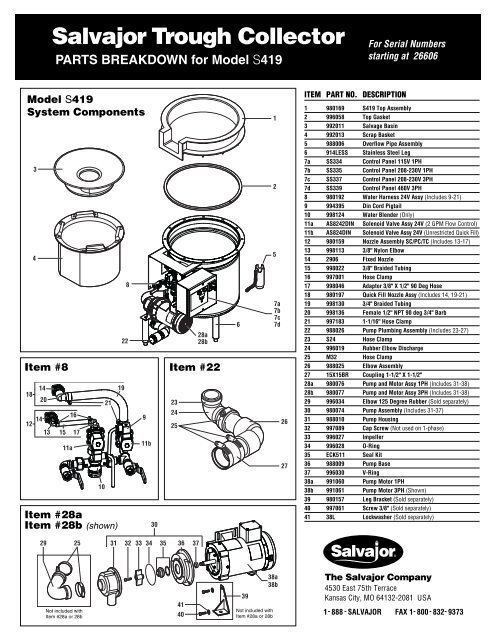 Salvajor 984016 Disconnect Handle Assembly