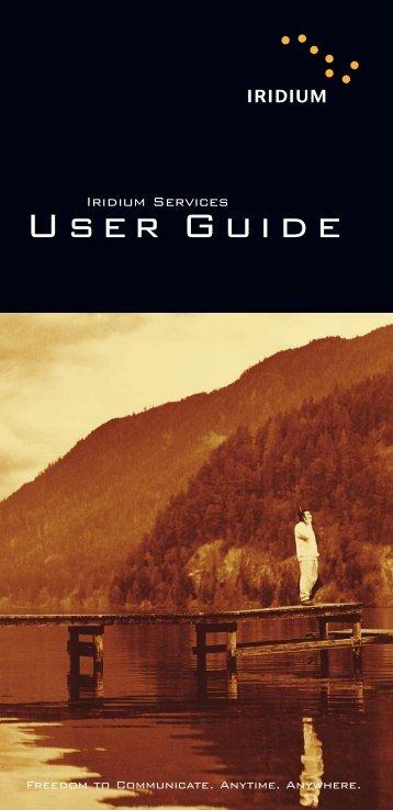Iridium Services User Guide - Explorer Satellite