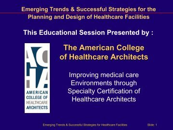 Imaging and Health Facilities - American College of Healthcare ...