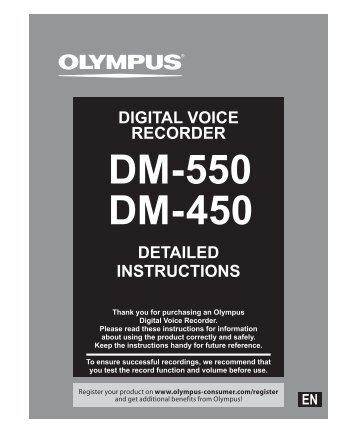 DM450 / DM550 user manual - Digital voice solutions from Nuance ...