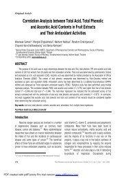 Correlation Analysis between Total Acid, Total Phenolic