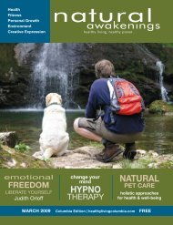 March 2009: Holistic Pet Care - Columbia Natural Awakenings–Home