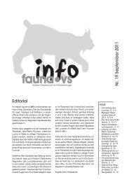 Bulletin Nr 19 deutsch - faunavs.ch » Aktuell