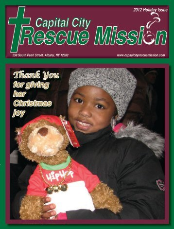 2012 Holiday Newsletter - Capital City Rescue Mission