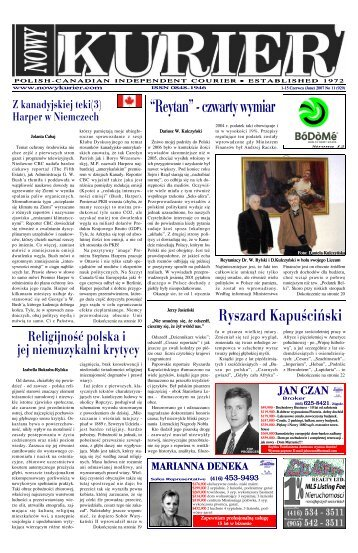 (June) 2007r. No 11 (929) - Nowy Kurier