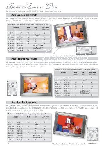 Mini-Familien-Apartments Maxi-Familien-Apartments ... - Ulrichshof