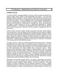 The Blueprint - Mathematics and Science Curriculum