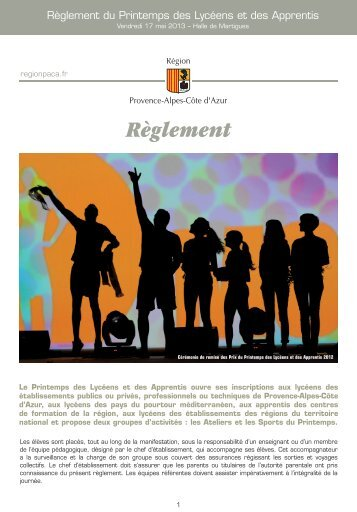 """Télécharger """"Reglement-PDLA-2013.pdf"""" - Printemps des lycéens et ..."""