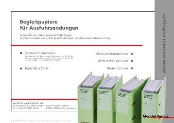 Demo Begleitpapiere für Ausfuhrsendungen