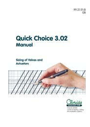 Quick Choice 3.02, Sizing of Valves and Actuators ... - Clorius Controls