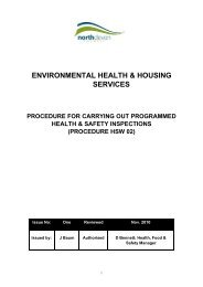 Procedure for carrying out programmed health and safety inspections