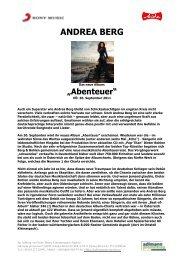 ANDREA BERG - adlmann promotion