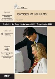 Teamleiter im Call Center - con.cept.S, Eva Schmitz