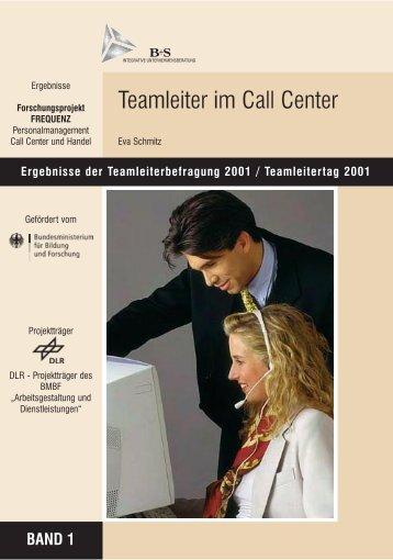 Teamleiter im Call Center - con.cept.S, Eva Schmitz