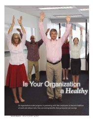 Is Your Organization a Healthy Enterprise? - International ...