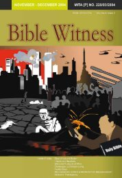 Signs Of The End Times - Bible Witness