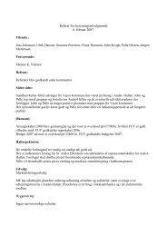 Referat fra forretningsudvalgsmøde 6. februar 2007. Tilstede ... - Andst