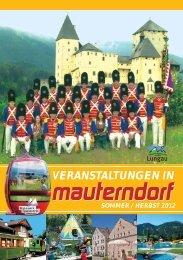 VERANSTALTUNGEN IN - Mauterndorf