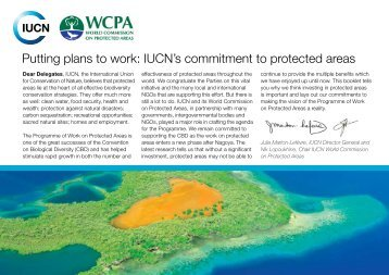 IUCN's commitment to protected areas - Convention on Biological ...