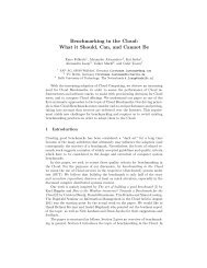 Benchmarking in the Cloud - Parallel and Distributed Systems