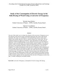 Study of the Consumption of Electric Energy in the Kiln Drying of ...