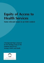 Equity of Access to Health Services - Institute of Public Health in ...