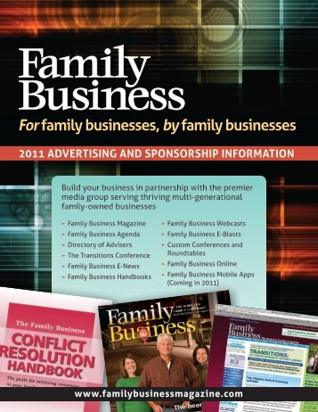 Forfamily businesses, byfamily businesses