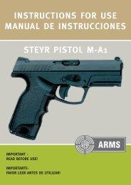 instructions for use manual de instrucciones steyr ... - Steyr Mannlicher