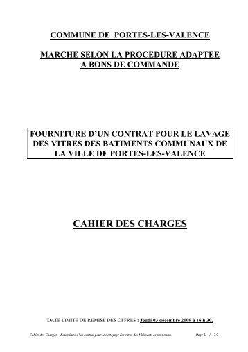 Cahier des Charges 2010 - Portes-lès-Valence