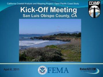 San Luis Obispo Kick-Off Meeting Presentation - FEMA Region 9